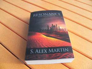 My copy of Resonance. The cover is even more gorgeous is person.