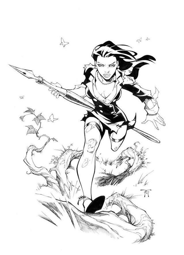 """Inkwell 10th Anniversary """"Jungle Girl"""" by Randy Green"""