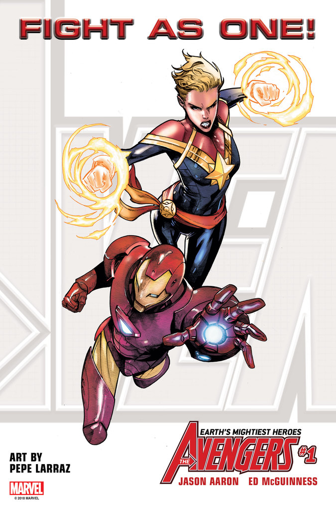 Avengers #1 - Fight As One - Captain Marvel and Iron Man 2018
